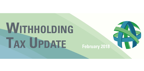Withholding tax updates