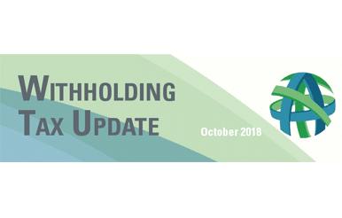 tax update october