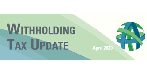 withholding tax update 2020