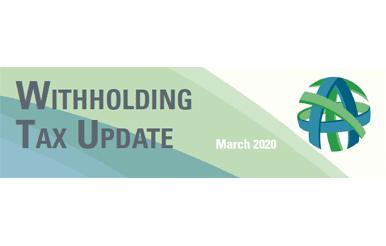 tax update march 2020