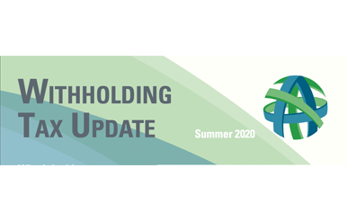 withholding tax update